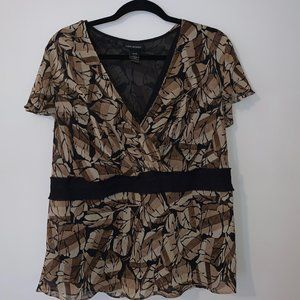 Lane Bryant Abstract leaf print blouse Size 14 16